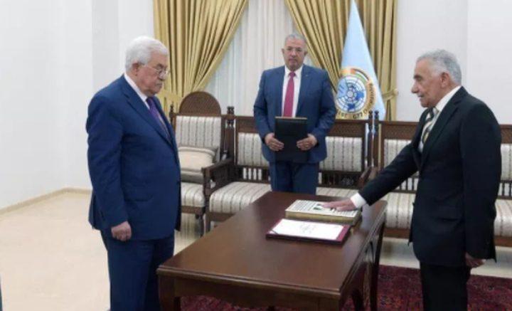 المستشار عيسى أبو شرار يؤدي اليمين القانونية أمام الرئيس