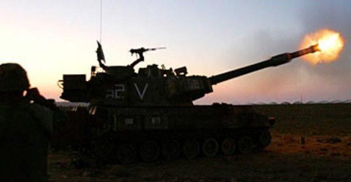 مدفعية الاحتلال تقصف موقعا شرقي خان يونس