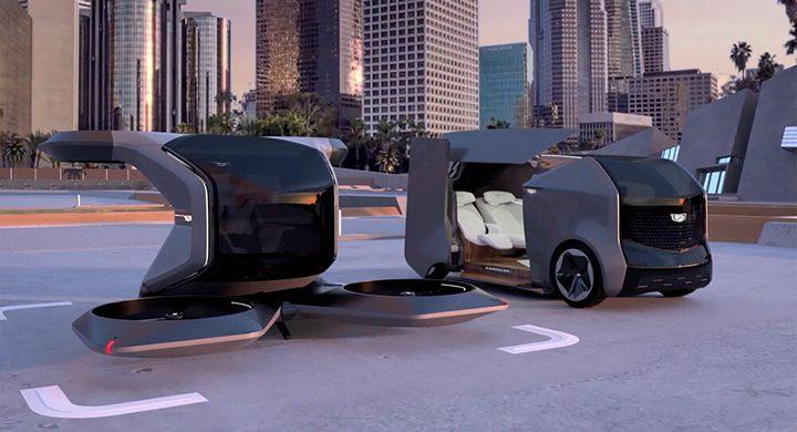 """شركة """"كاديلاك"""" تكشف عن سيارة طائرة شبيهة بأفلام الخيال العلمي"""
