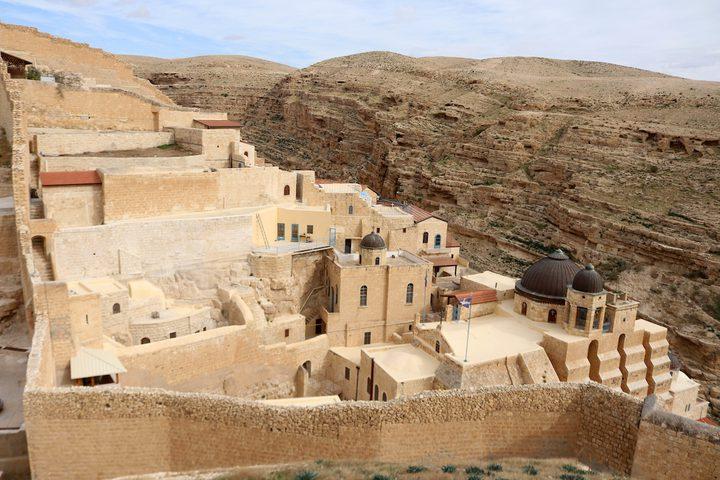 دير مارسابا المطل على وادي قدرون جنوب بيت لحم