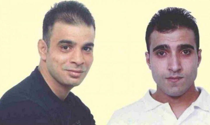 نادي الاسير: الشقيقان قواسمة يدخلان أعواما جديدة في سجون الاحتلال