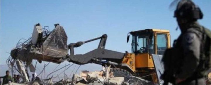 الاحتلال يهدم منزلًا قيد الإنشاء في بيت لحم
