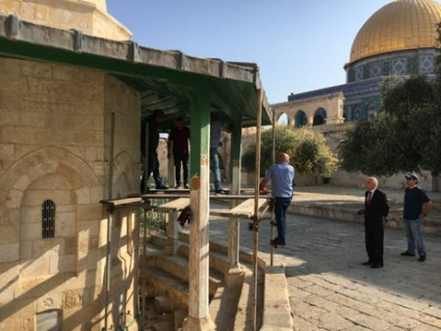الأردن يعلن استئناف عملية الإعمار في المسجد الأقصى المبارك