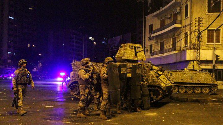 9 اصابات من الشرطة اللبنانية جراء المواجهات بمحيط سراي طرابلس