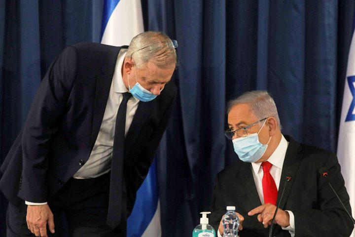 استمرار الخلاف بين نتنياهو وغانتس حول تمديد إغلاق كورونا