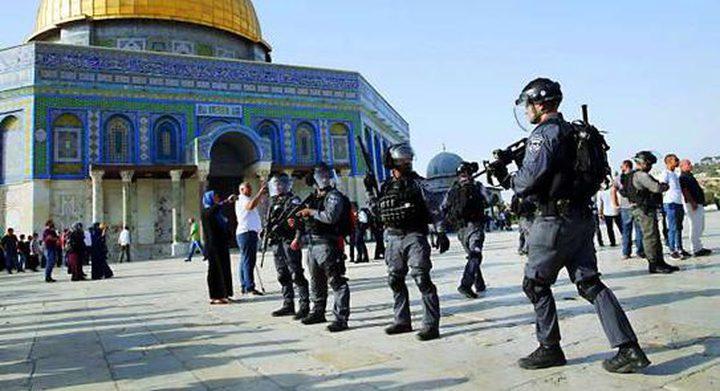 الاحتلال يشدد إجراءاته ويمنع المصلين الوصول للأقصى