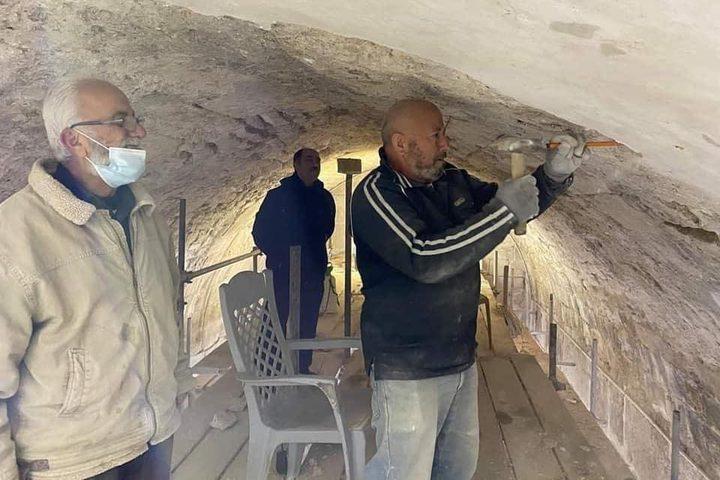 جانب من أعمال ترميم قبة الصخرة المشرفة والمسجد المرواني في القدس
