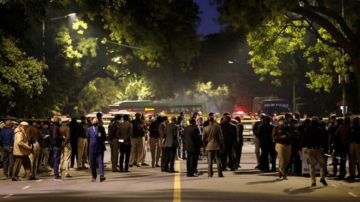 الهند تعلن أن جماعة مجهولة تتبنى الانفجار قرب سفارة الاحتلال