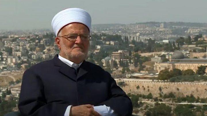 صبري: الاحتلال يخطط لإقامة بناية ضخمة لحجب الرؤية عن الأقصى
