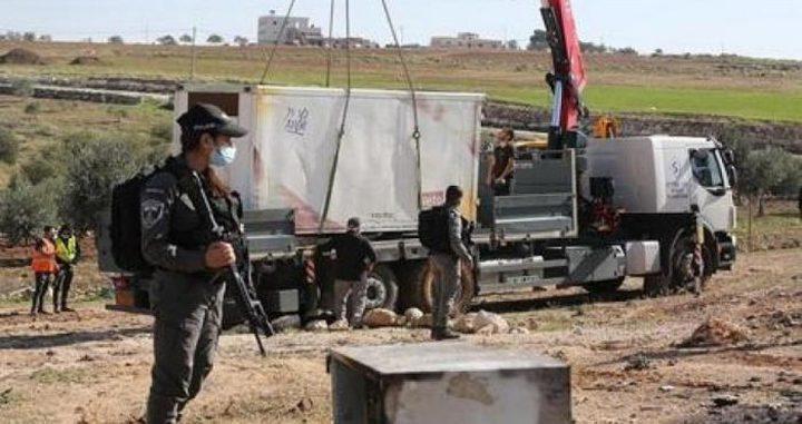 """الاحتلال يهدم 11 """" كشكا """" في عانين غرب جنين"""