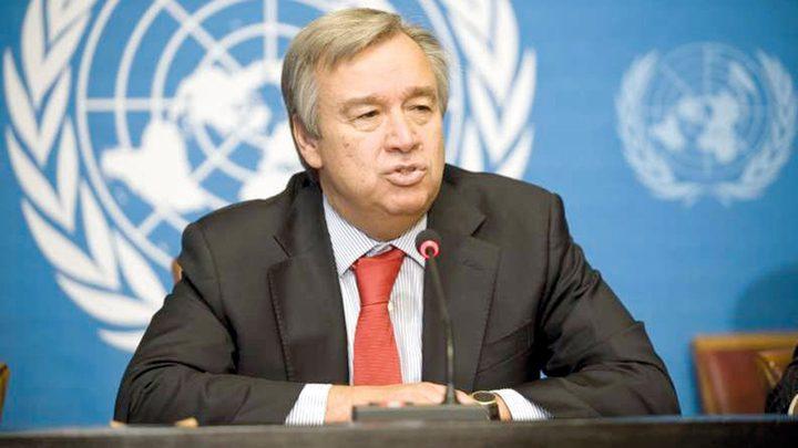 أمين عام الأمم المتحدة يدعو دولة الاحتلال لوقف الاستيطان
