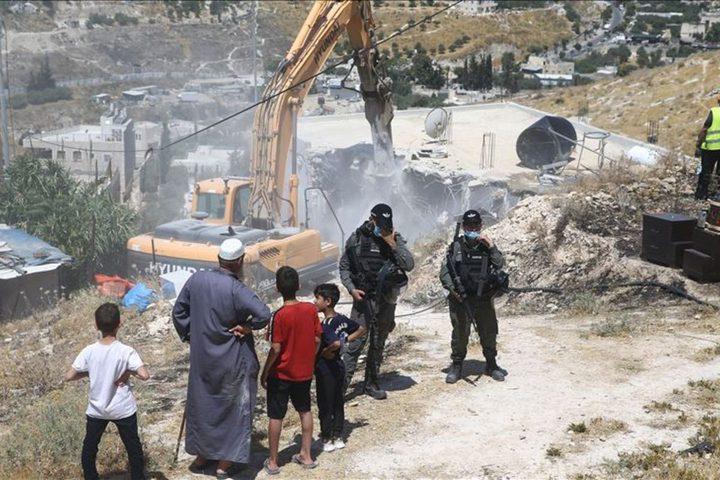تقرير: 160 منزلا ومنشأة استهدفها  الاحتلال في شهر كانون الثاني
