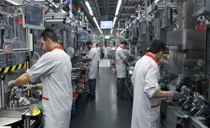 انخفاض الرقم القياسي لكميات الإنتاج الصناعي بحوالي 7.95%