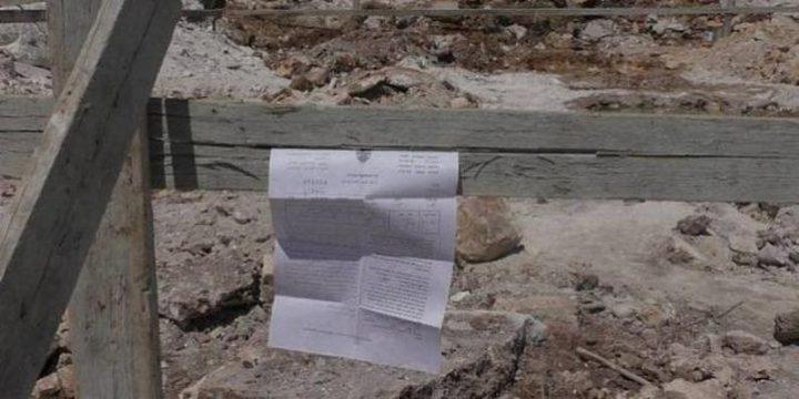 الاحتلال يخطر بوقف البناء في سبعة منازل غرب نابلس