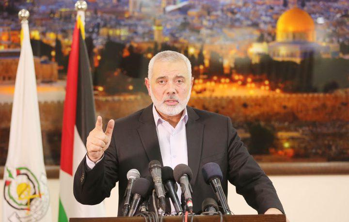 هنية يؤكد على الاستمرار بالحوار لإنجاح الانتخابات وانهاء الانقسام