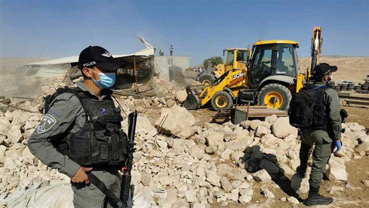 الجامعة العربية تدين إقدام الاحتلال على هدم خربة حمصة للمرة الـ4