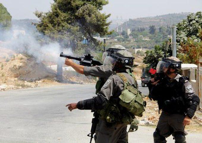 الخليل: الاحتلال يقتحم تقوع ويصيب عشرات المواطنين بالاختناق