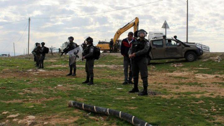الاحتلال يهدم بركة مياه بأريحا ويستولي على خيمتين جنوب الخليل