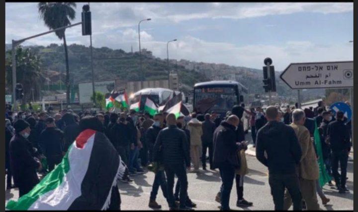 مظاهرات ضد الجريمة والشرطة في أم الفحم وطمرة وكفر قرع