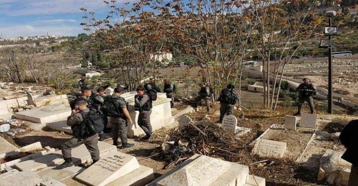 مستوطنون يقتحمون مقبرة باب الرحمة بحماية شرطة الاحتلال