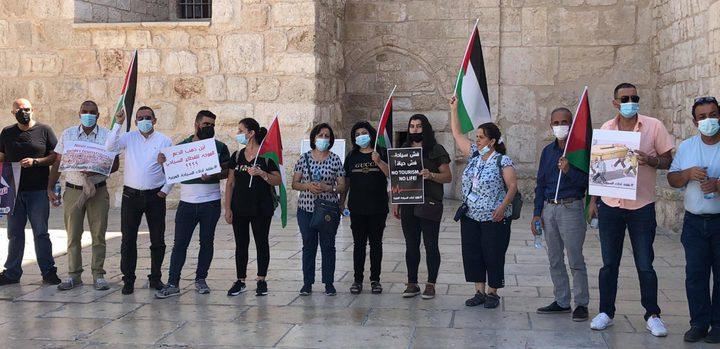 الأدلاء السياحيون في بيت لحم يحتجون على وضعهم