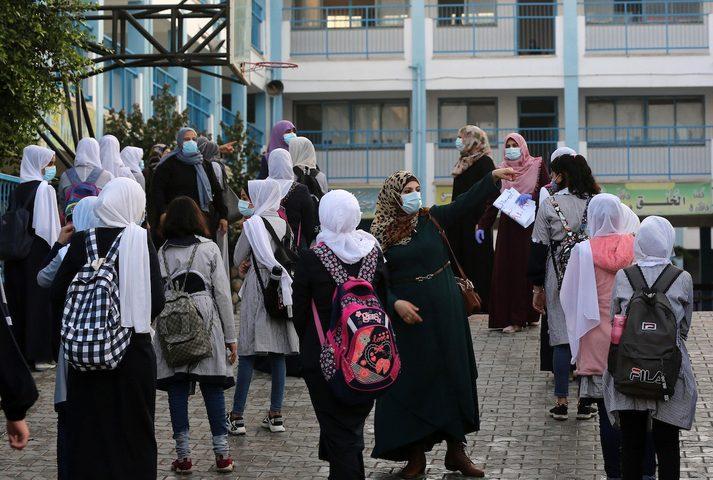 استئناف الدراسة في مدارس الأونروا بغزة