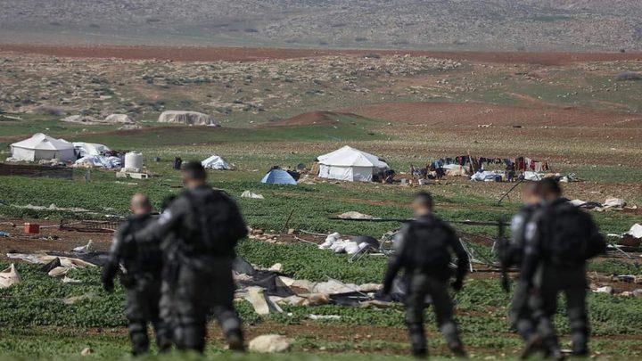 الاحتلال يقتحم خربة حمصة الفوقا