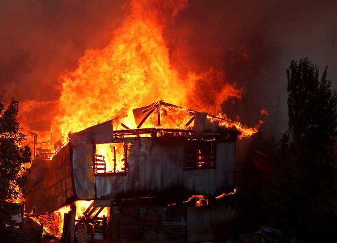 حريق هائل يدمر قرية صينية عمرها 400 عام