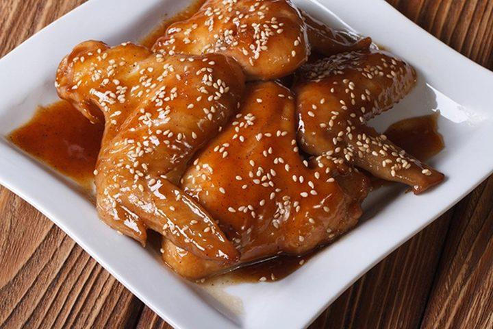أجنحة الدجاج بالعسل والخردل