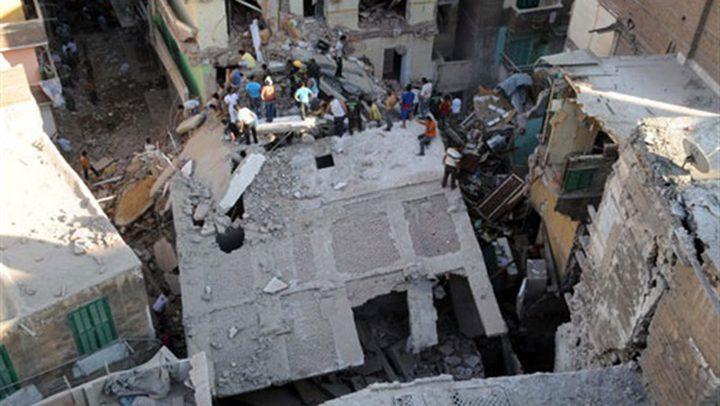 ضحايا ومصابون جراء انهيار عقار في الإسكندرية شمال مصر