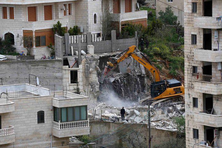 بيت لحم: الاحتلال يهدم غرفتين في بلدة بتير
