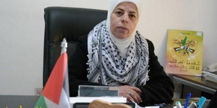 سلامة تدعو إلى تكريس مشاركةالمرأة الفلسطينية في الانتخابات