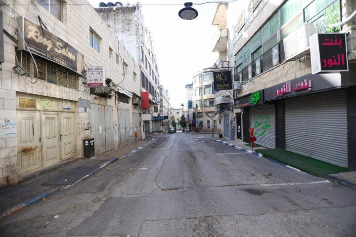 رام الله والبيرة في ثاني أيام الإغلاق لمواجهة تفشي كورونا
