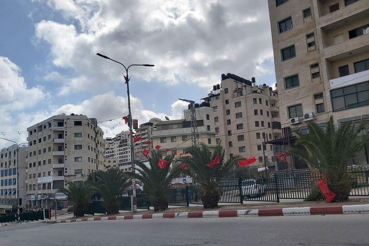 جانب من ثالث أيام الاغلاق الذي تشهده محافظة نابلس