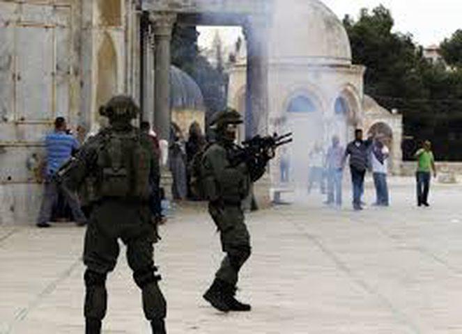 اعتداء على المصلين قرب الأقصى واعتقال 5 مواطنين