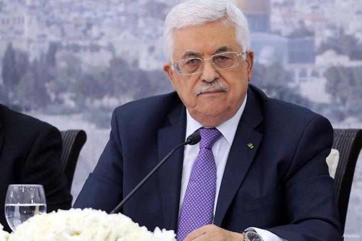 الرئيس محمود عباس يعزي بالشهيد عاطف حنايشة