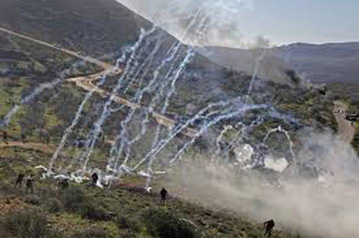 إصابات خلال مواجهات مع الاحتلال جنوب نابلس