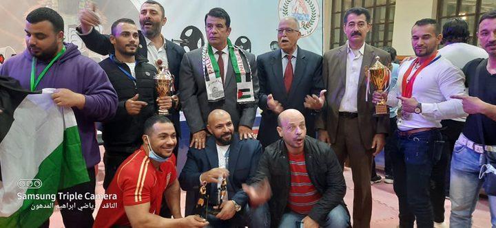 فلسطين تحرز المركز الثالث بالبطولة العربية للقوة البدنية