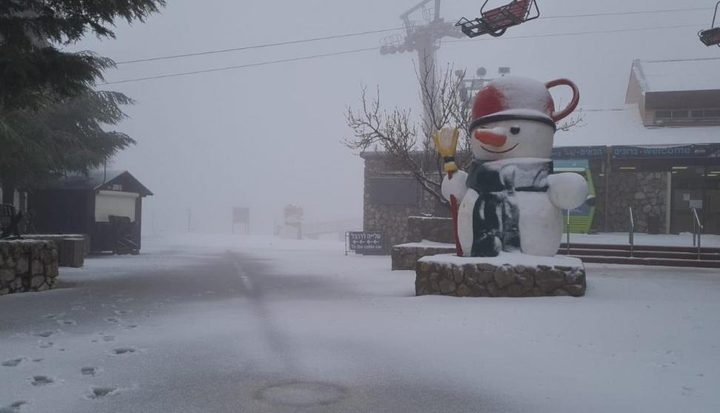 إغلاق جبل الشيخ بسبب استمرار تساقط الثلوج