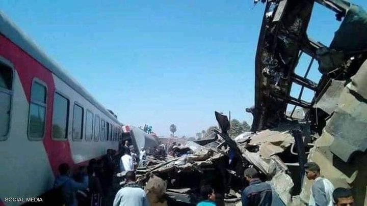 مصرع 32 مواطنا وإصابة 91 آخرين في حادث قطاري سوهاج بمصر