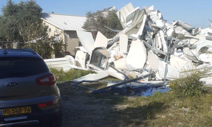 الاحتلال يهدم منزلا لعائلة النقيب في اللد