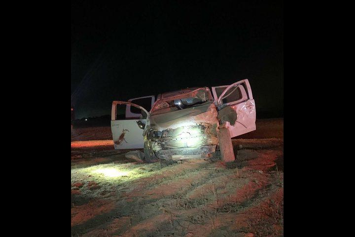 النقب:إصابة خطيرة لشاب في حادث طرق قرب أبو قرينات