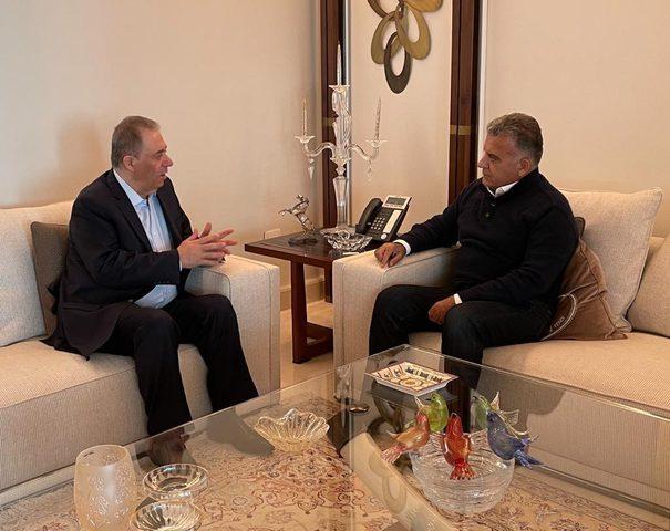 اللواء عباس إبراهيم يبحث مع السفير دبور الأوضاع الفلسطينية