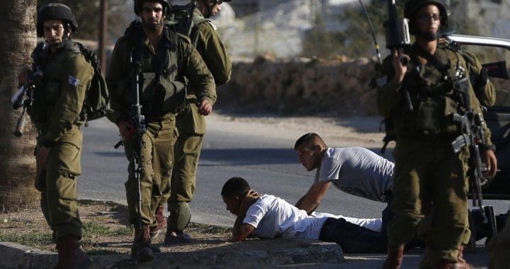 اعتقال 21 مواطنا من الضفة بينهم عشرة شبان من عائلة واحدة