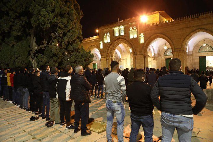 صلاة التراويح من رحاب المسجد الأقصى المبارك في القدس