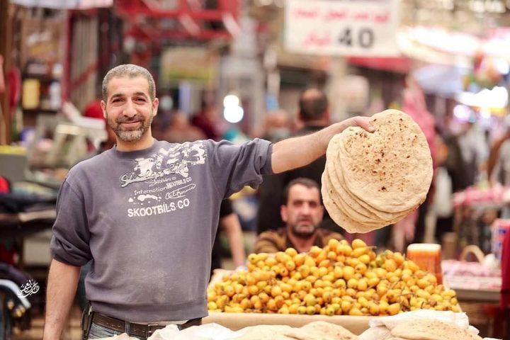 جانب من أجواء مدينة نابلس في ثالث أيام شهر رمضان المبارك