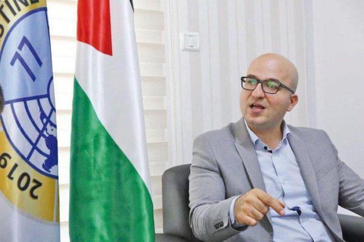 الهدمي يدعو المجتمع الدولي لإلزام الاحتلال بعدم عرقلة الانتخابات