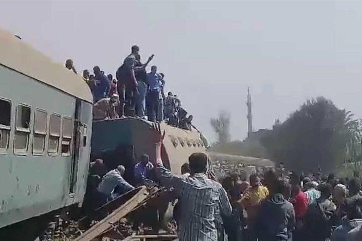 97 مصابا بعد خروج قطار عن القضبان بمحافظة القليوبية المصرية
