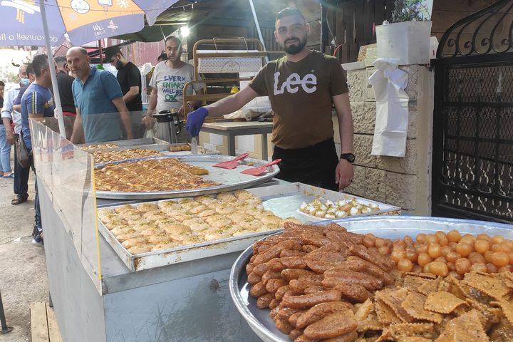 جولة في منطقة المخفية بمدينة نابلس سادس أيام رمضان