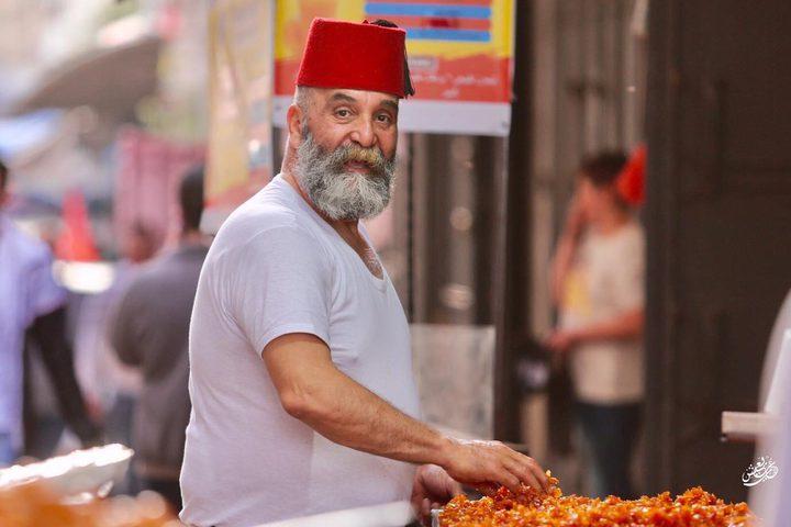 أجواء باب الساحة وسط البلدة القديمة بنابلس خلال شهر رمضان